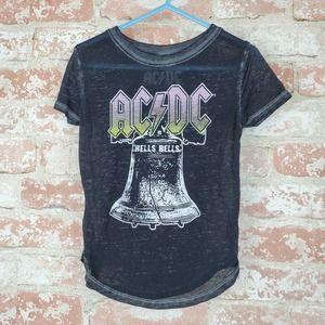 AC/DC Black Hells Bells Tshirt Sz 2T